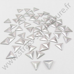 Strass thermocollant en métal triangle - Argent
