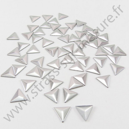 Strass thermocollant en métal triangle - Argent