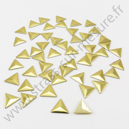 Strass thermocollant en métal triangle - Doré