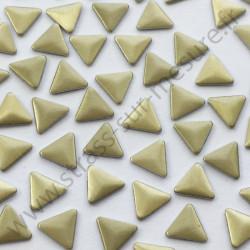 Strass thermocollant en métal triangle - Doré mat - détail