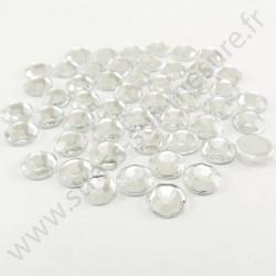 Strass acrylique rond à facettes à coller - Diamant - 7mm