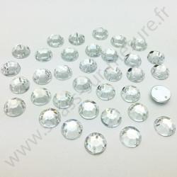 Strass acrylique à facettes rond à coudre - Diamant - 4mm à 14mm