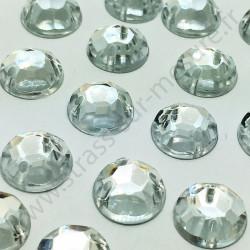 Strass acrylique à facettes rond à coudre - Diamant - 4mm à 14mm - détail