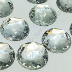 Strass acrylique multifacettes rond à coudre - Diamant - 16mm - détail