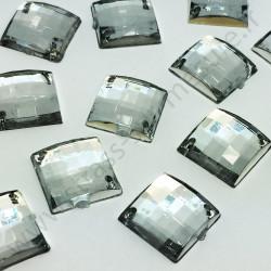 Strass acrylique carré quadrillage à coudre - Diamant - 12mm, 14mm - détail