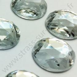 Strass acrylique rond à coudre à facettes - Diamant - 6mm à 15mm - détail