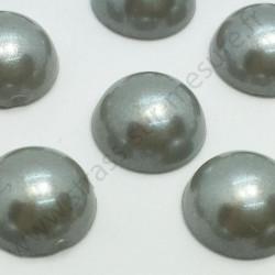 Demi-perle nacrée rond à coller - Gris - 5mm à 10mm - détail