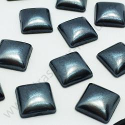 Demi-perle nacrée carré à coller - Noir nacré - 8mm, 10mm - détail