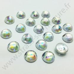 Demi-perle nacrée rond à coudre - Diamant nacré - 6mm à 10mm