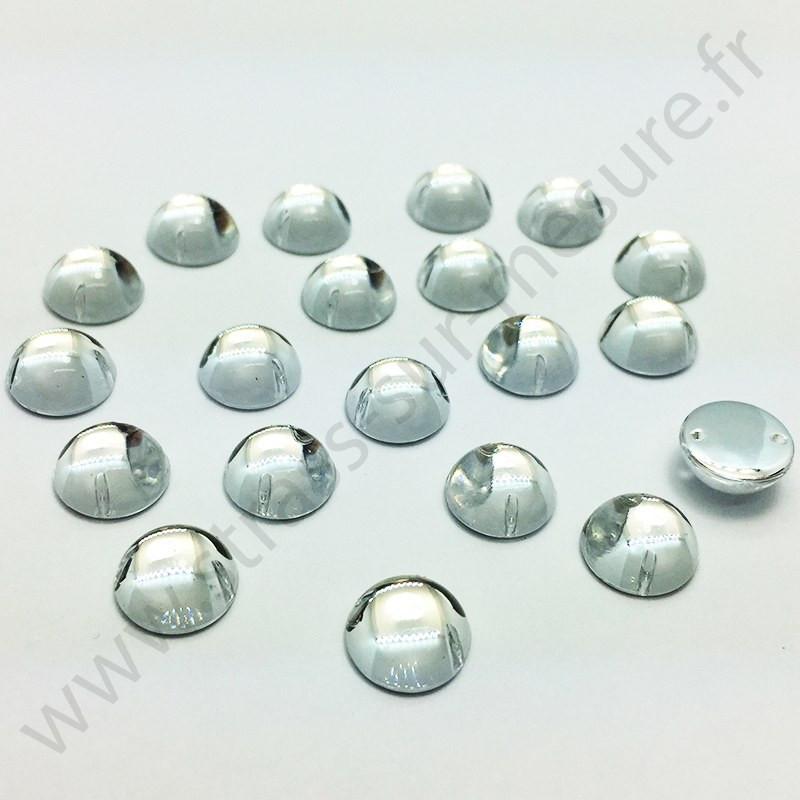Demi-perle rond à coudre - Diamant - 6mm à 10mm