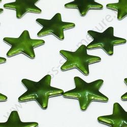 Strass thermocollant en métal étoile - Vert kaki - 10mm - détail