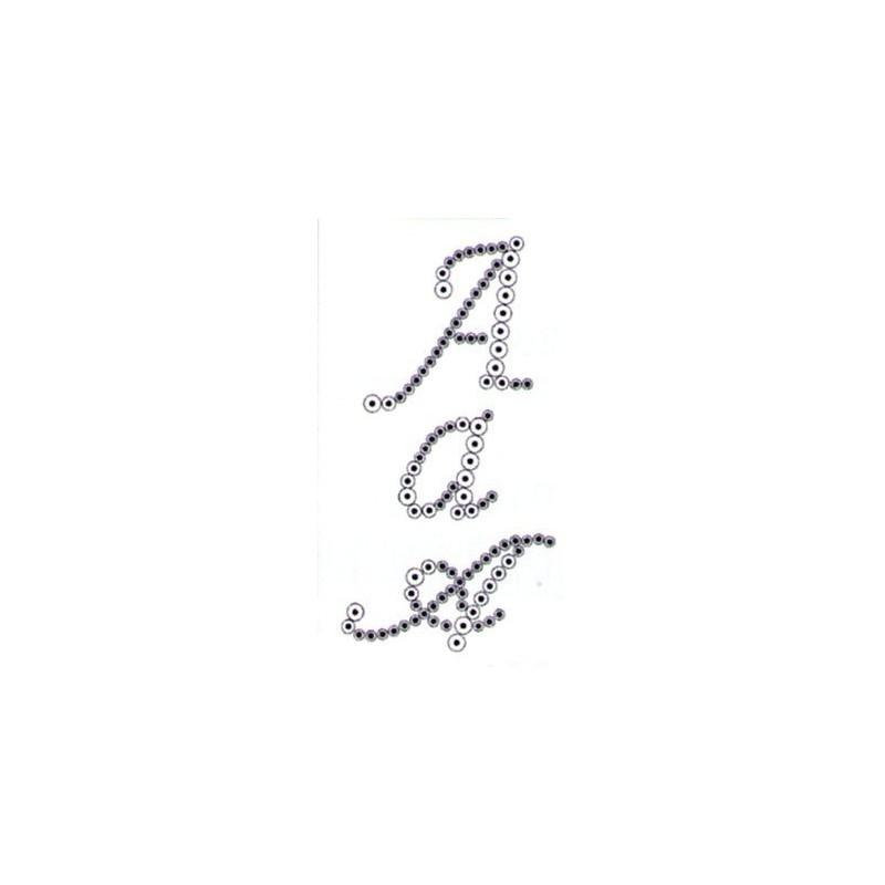 Pochoir alphabet pour strass - lettre A