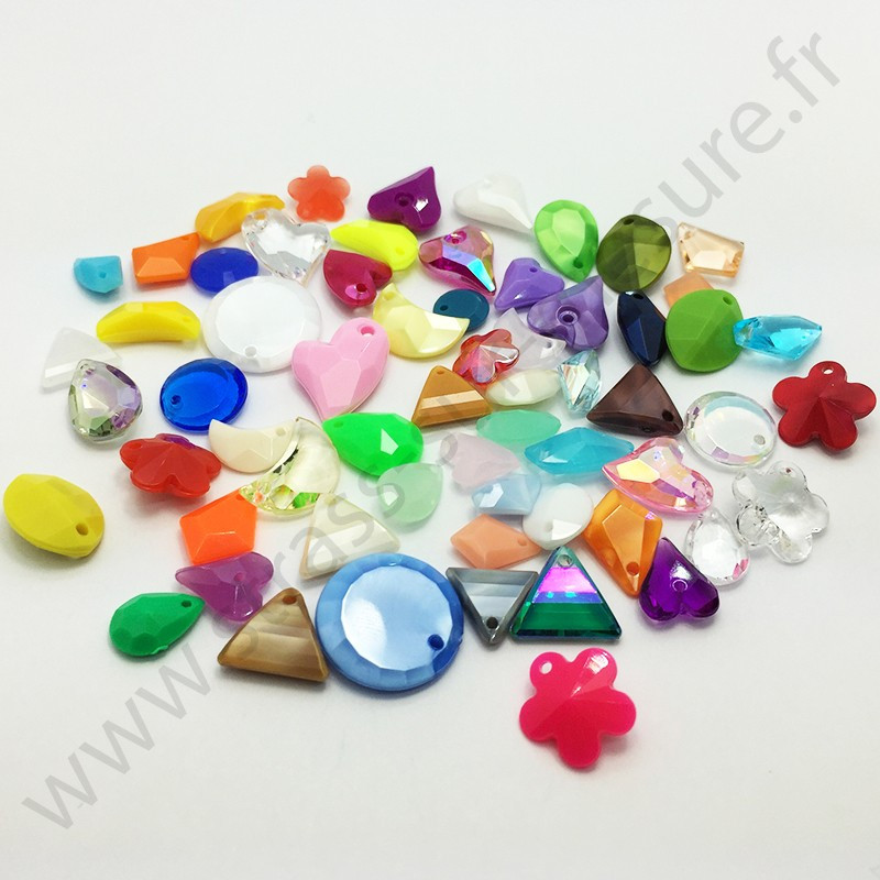 Perle à coudre multiformes - Multicolore