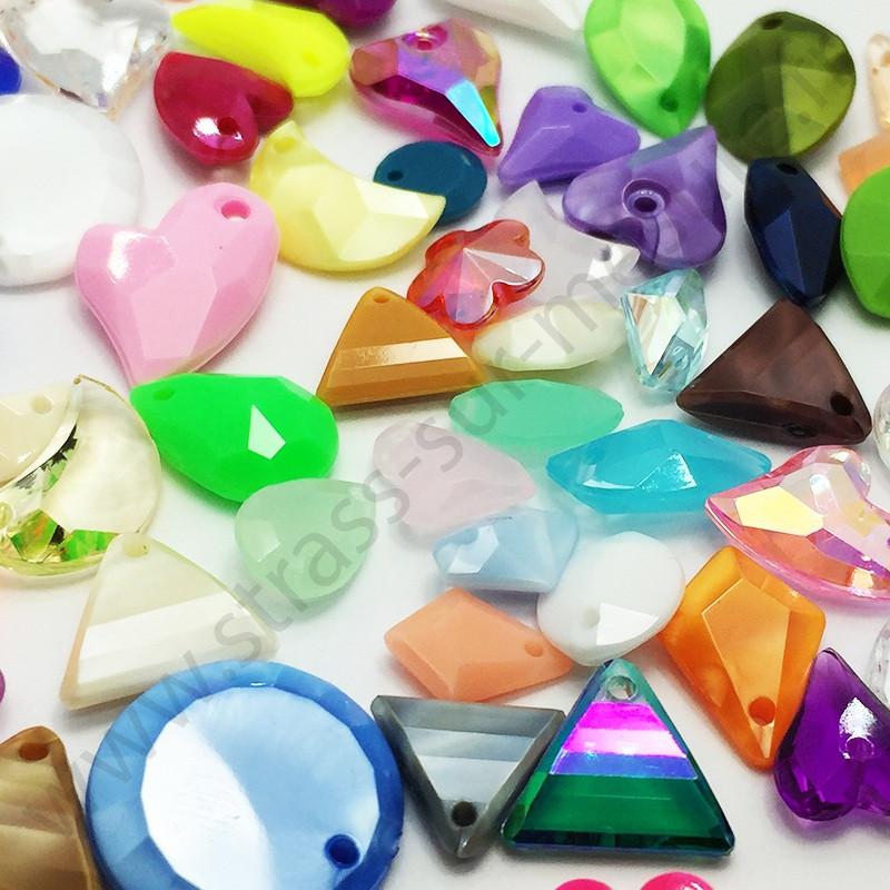 Perle à coudre multiformes - Multicolore - détail