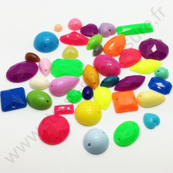Demi-strass multiformes à coudre - Multicolore
