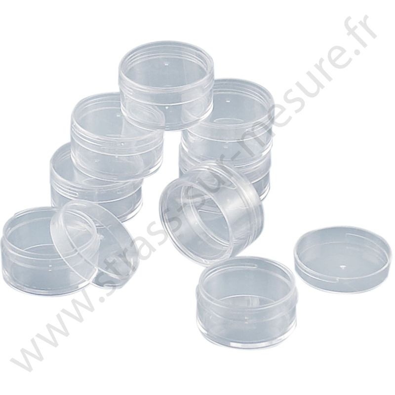 Mini boite ronde transparente - 38x18mm - x10 boites