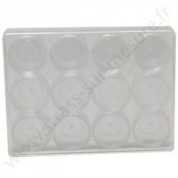 Coffret de rangement - 12 mini boites rondes