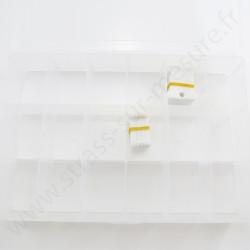 Boite trieur à cases - 18 cases - détail