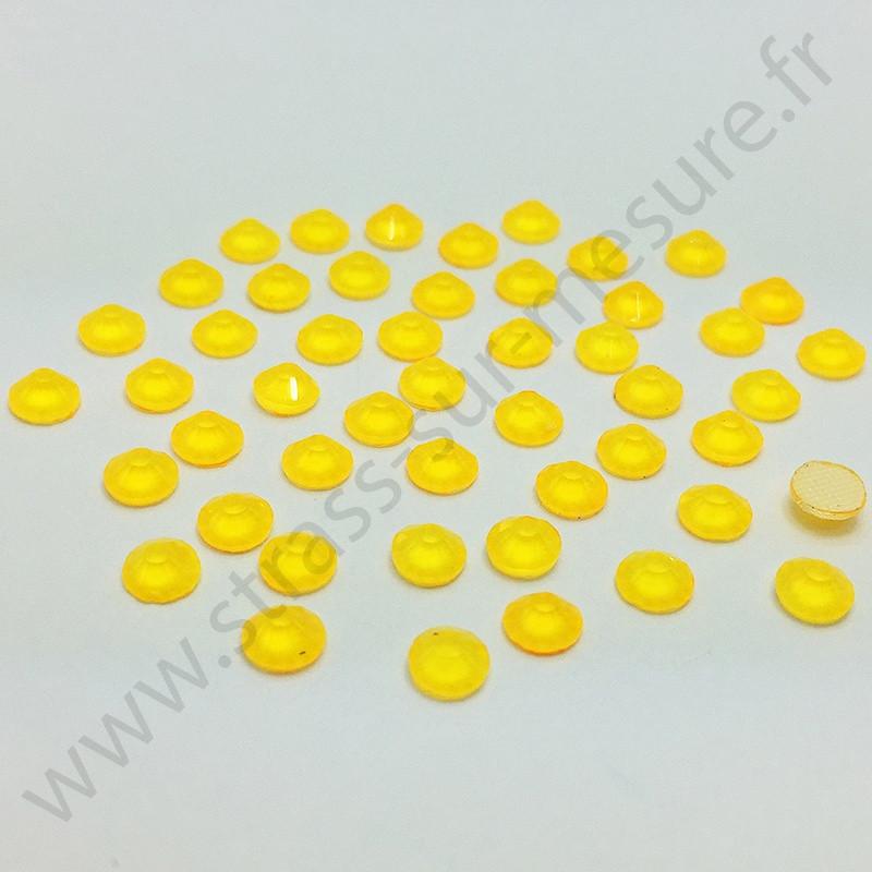 Strass thermocollant fluorescent en verre - Orange - 2mm à 6mm