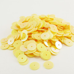 Sequin plat - JAUNE NACRE - 6mm