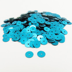 Sequin plat - TURQUOISE - 6mm