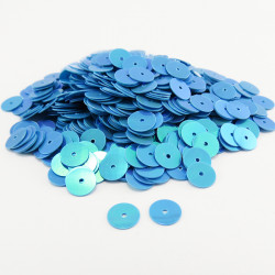 Sequin plat - TURQUOISE NACRE - 6mm