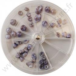 Boites de rangement rondes empilables - 12 compartiments
