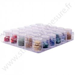 Coffret de rangement - 30 mini boites rondes