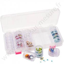 Boite de rangement - 28 mini boites rondes