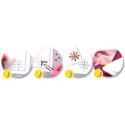 Feuille de transfert pour strass thermocollant - format A4 - x1 - notice