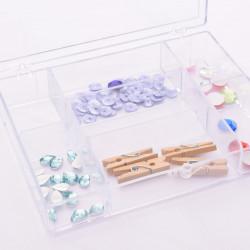 Boite transparente de rangement - 7 compartiments - détails