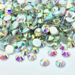 Strass en verre à coller - Nacré - 2mm à 10mm - détail