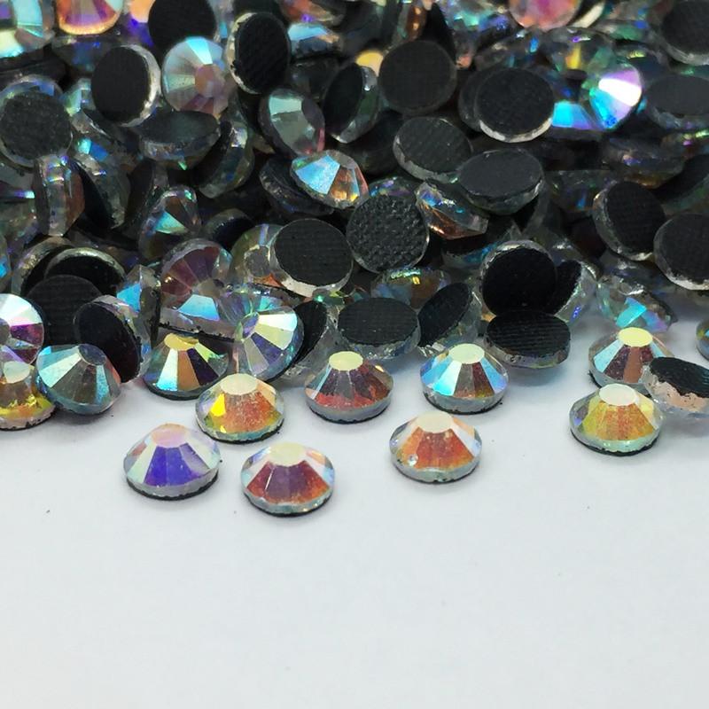Strass thermocollant en verre DMC - AB Cristal - 2mm à 6mm