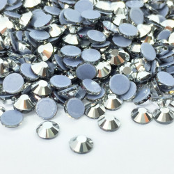 Strass thermocollant en verre - Argent