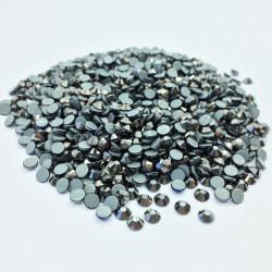 Strass thermocollant en verre - Noir nacré - 2mm à 6mm