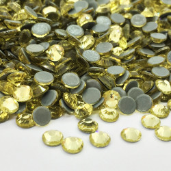 Strass thermocollant en verre - Jonquille