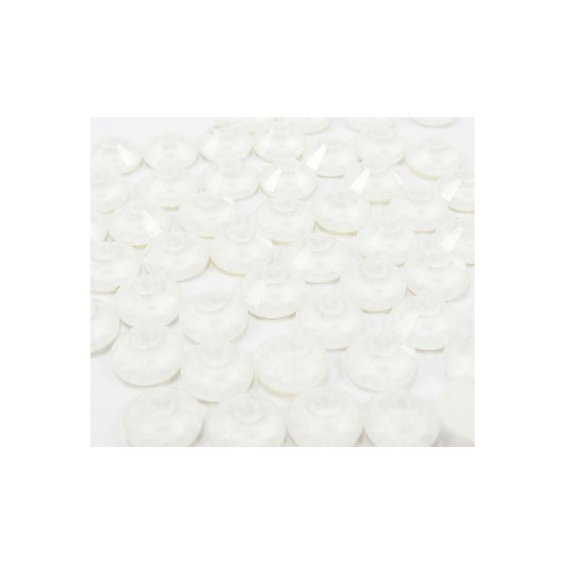 Strass thermocollant fluorescent en verre - Blanc