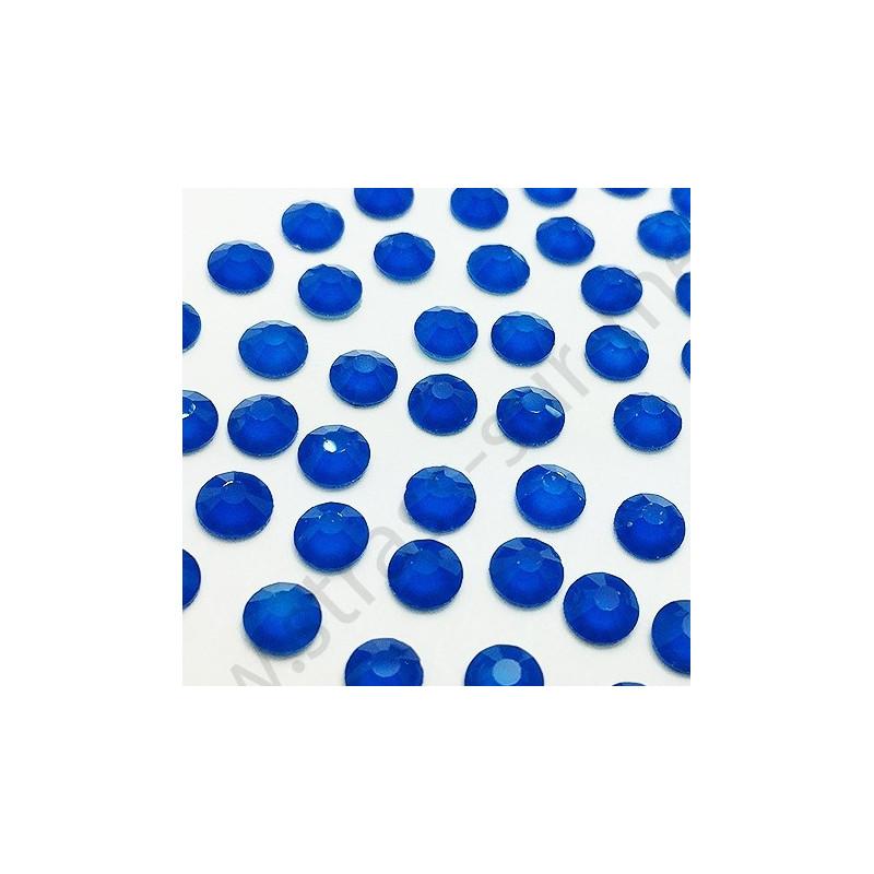 Strass thermocollant fluorescent en verre - Bleu