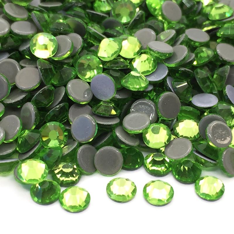 Strass thermocollant en verre - Vert péridot
