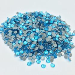 Strass thermocollant en verre - Bleu lagon - 2mm à 6mm