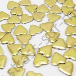 Strass thermocollant en métal cœur - Doré