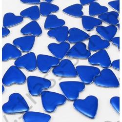 Strass thermocollant en métal cœur - Bleu royal