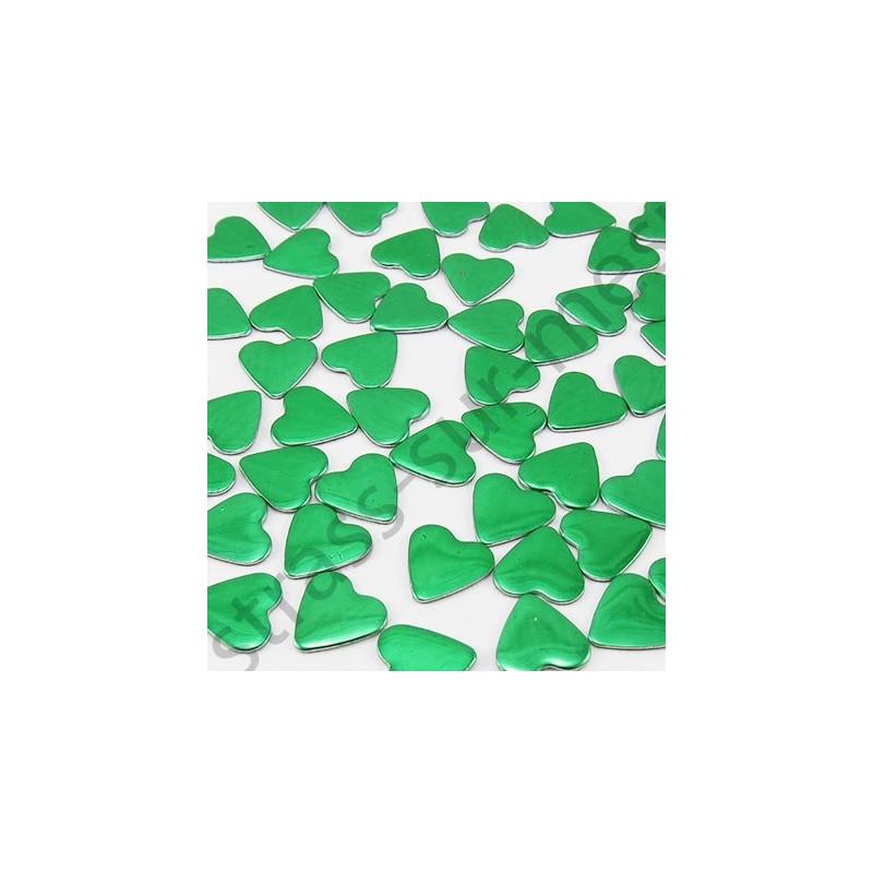 Strass thermocollant en métal cœur - Vert sapin