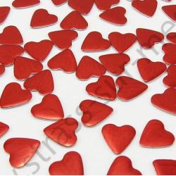 Strass thermocollant en métal cœur - Rouge