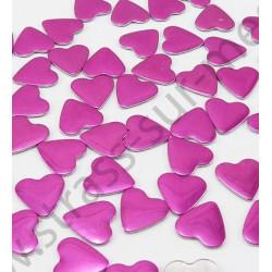 Strass thermocollant en métal cœur - Rose fuchsia