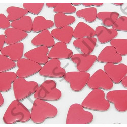 Strass thermocollant en métal cœur - Rose