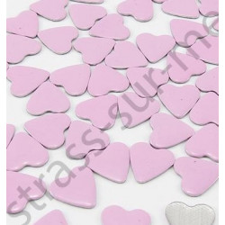 Strass thermocollant en métal cœur - Rose clair