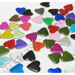 Strass thermocollant en métal cœur - Multicolore