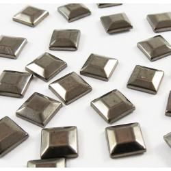 Strass thermocollant en métal carré - Noir vieilli