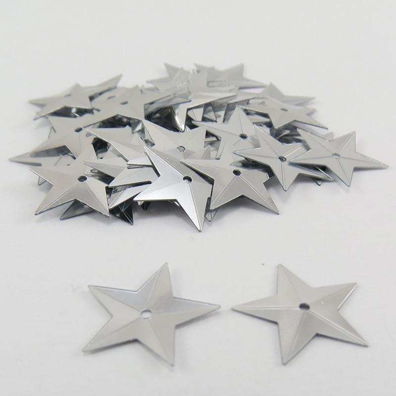 Sequin étoile - Argent - 14mm